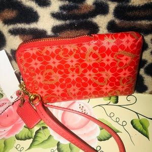Coach Wristlet red  wallet